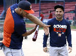 LEADING OFF: Astros, Indians seek sweeps; HR-happy playoffs