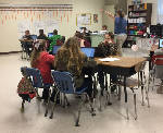 Coalmont Elementary students use laptops to learn technology in classroom