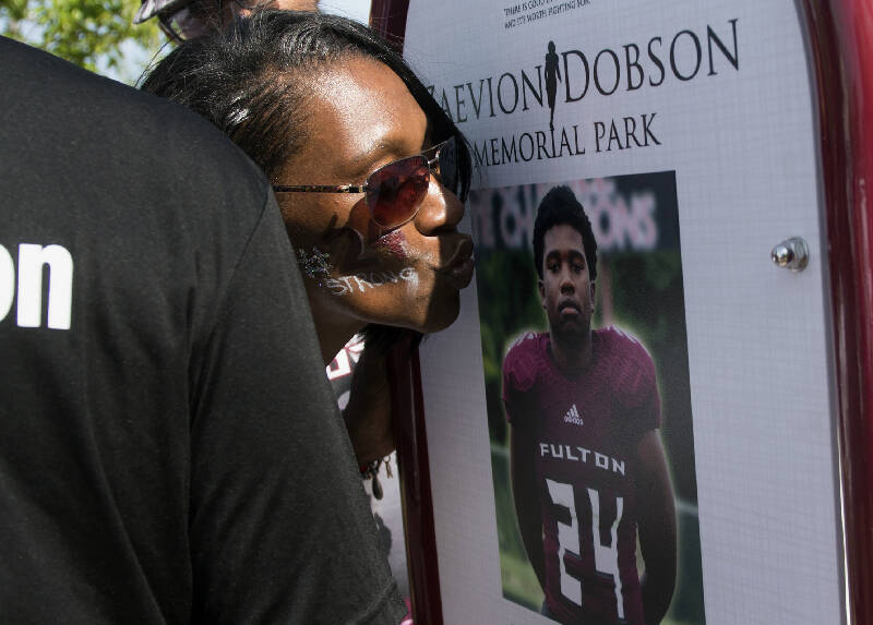 A high school football player saved the lives of two girls