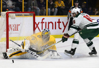 Juuse Saros 29 Saves Lead Predators Over Wild 3 0 Chattanooga