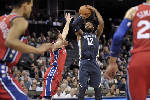 Gasol, Evans fuel rally as Grizzlies overcome Sixers 105-101