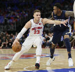 NBA Roundup: Griffin gets double-double as Pistons beat Grizzlies 104-102