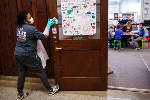 Schools, parents take action to stop spread of flu [photos, document]