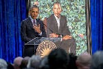 Obama jokes he failed to get artist to give him smaller ears