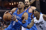 George, Westbrook lead Oklahoma City Thunder past Memphis Grizzlies