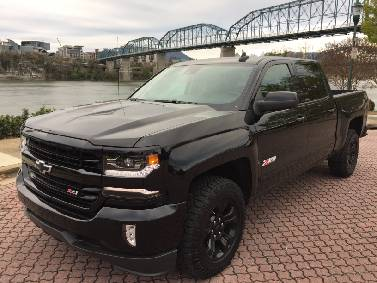 The 2018 Chevrolet Silverado 1500 Is Shown In Ltz Trim With Midnight Edition Package Staff Photo By Mark Kennedy