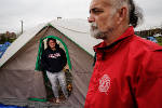 Case workers, volunteers work to start clearing tent city [photos]