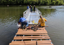 Piers dedicated at Wolfever Creek