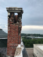 Lightning apparently strikes Hunter Museum, James building in downtown Chattanooga