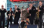 Navy Brass Band anchors at riverfront