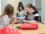 In partnership with Mercer University, Dalton Public Schools students learn medical techniques