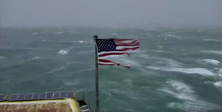 Live Watch Hurricane Florence From Frying Pan Tower Off