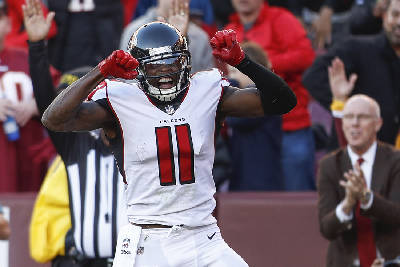 Julio Jones Finally Scores A Touchdown As Falcons Blow Out Redskins Chattanooga Times Free Press