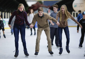 Glide into the holidays when Ice on the Landing opens Friday