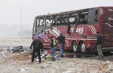 Two dead, 44 hurt in bus crash on icy highway near Memphis