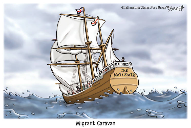 Image of the Mayflower captioned,