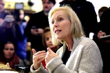 Gillibrand, in Iowa, bills herself as a fighter for families