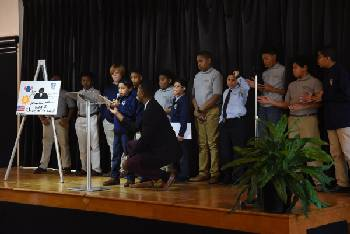 Chattanooga Prep boys pay tribute to Dr. Martin Luther King Jr.