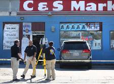Two people injured in corner store shooting on Dodson Avenue