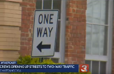 Some one-way streets in downtown Chattanooga are opening up to two-way traffic