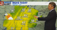 Weather cools off today before warm front hits
