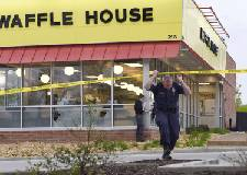 Waffle House shooting suspect's father pleads not guilty to gun charges