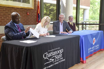 Students at three Hamilton County high schools can take dual enrollment technology courses this fall through new partnership