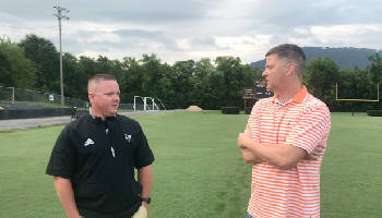 100 YARDS: Lookout Valley football coach Josh Payne talks to Stephen Hargis about the upcoming season