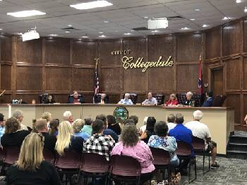 Large crowd turns out for Collegedale City Commission meeting after recent police department shakeup