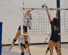 Ansley Blevins helps lead GPS to volleyball sweep