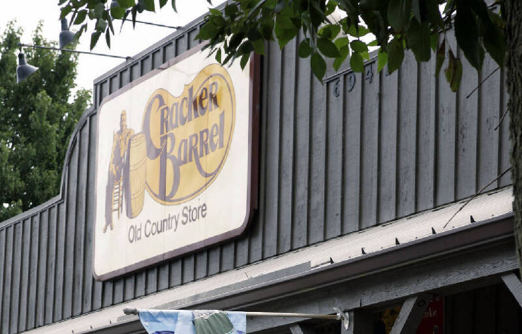 Cracker barrel turns away anti
