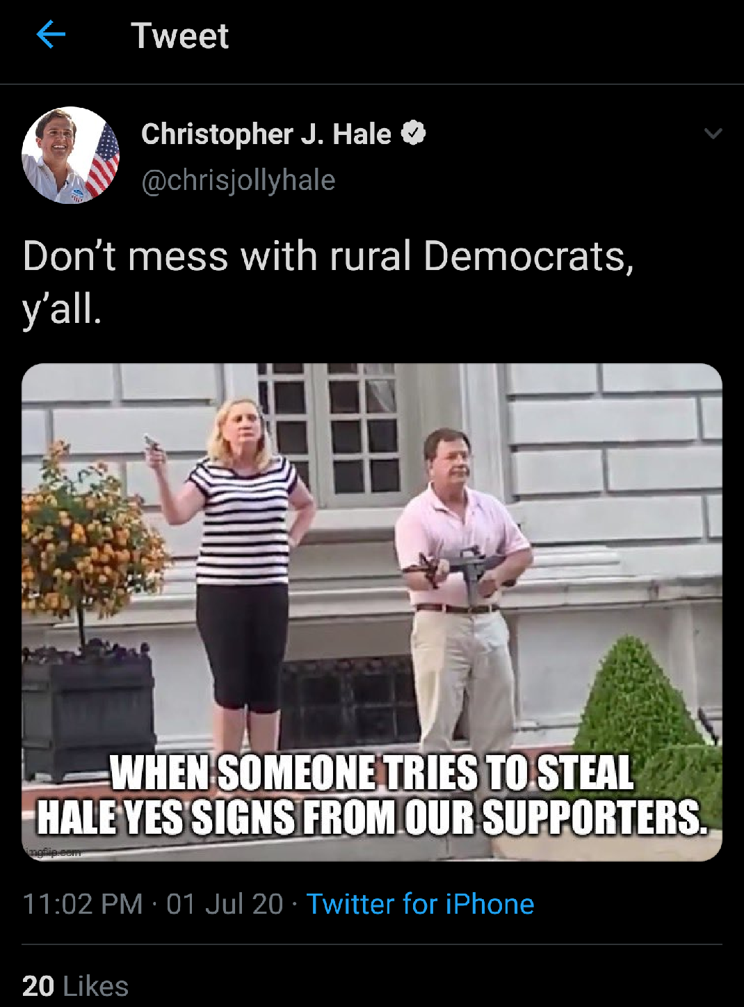 Congressional Candidate Chris Hale Defends Deleted Poor Taste Meme Chattanooga Times Free Press
