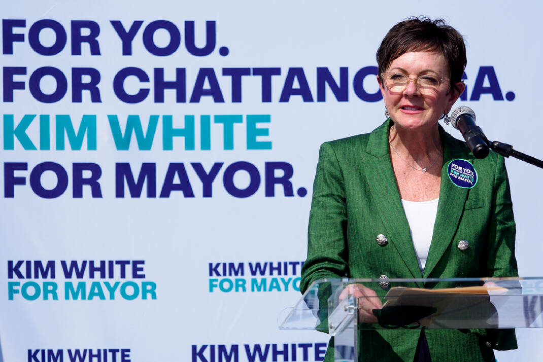 Kim White announces 2021 Chattanooga mayor's campaign