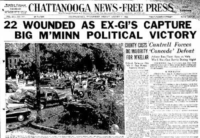 In 1946, the election got violent in Athens, Tennessee ...
