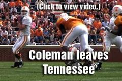 B.J. Coleman leaves Tennessee
