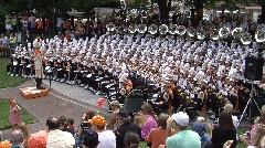 UT band plays at Miller Plaza