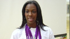Olympian DeeDee Trotter speaks to Central High School